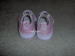 Koala Kids Toddler Girls Pink Sparkles Tennis Shoes Size 4