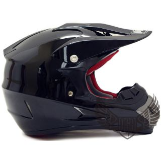 Youth M 397 Dirt Bike Off Road MX Helmet PGR Black