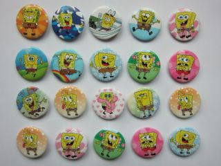 Spongebob Button Pin Badge Kids Party Bag Fillers Toys Collect