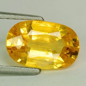 55 cts Dazzling Natural Earth Mined RARE AAA Yellow Sapphire Gem