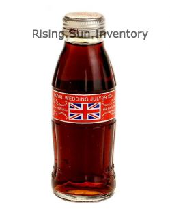 Coca Cola Coke Charles Diana Royal Wedding Full Bottle