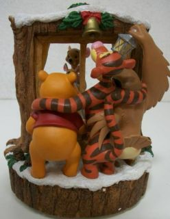 Rotating Musical We Wish You A Merry Christmas Tigger Kanga Roo