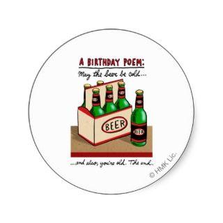 Birthday Poem Sticker