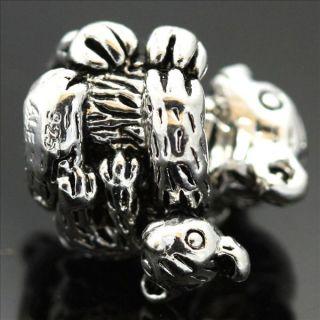 Koala Mum & Kid Sterling Silver European Charm Bead for Bracelet
