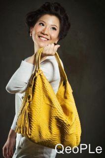 New Kimberly Genuine Python Snakeskin Leather Shoulder Bag Purse