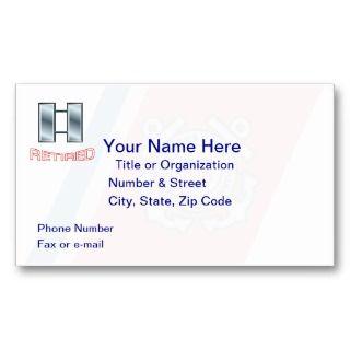 Coast Guard Lieutenant Retired Business Card