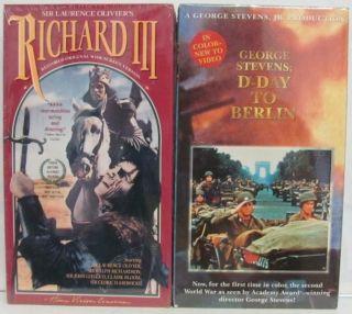 King Lear Richard III D Day Hamlet Romeo Juliet 1776 Bridge on Rver