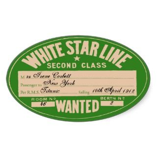 White Star Line (To customize) Sticker