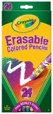 Crayola 24 Colors Count Erasable Colored Pencils