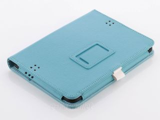 For Kindle Fire HD 7 Case PU Leather Stand Magnetic L Blue Cover