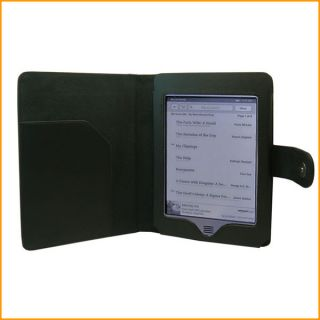 Black PU Leather Folio Carry Case for  Kindle Touch 3G 2011 E