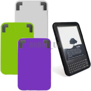 Silicone Soft Case Cover Skin for  Kindle 3 3G 4 Colours