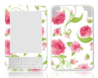 Kindle 3 Skin Case Sticker Art Decal Pink Rose
