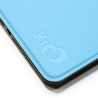 Kindle Fire Keyboard eReader Tablet Blue Leather Case Cover