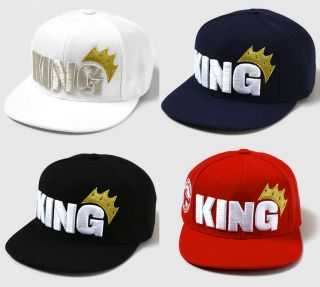 New King Ball Cap Hat Flat Adjustable Snapback Big Bang Hyuna KPOP