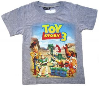 New Grey DSN Toy Story 3 Costume Kids Boy Short Sleeve T Shirt St
