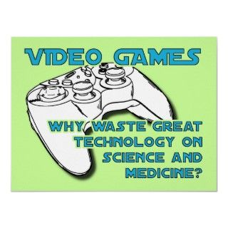 Video Game Technology Funny Poster Print Sign posters by FunnyBusiness
