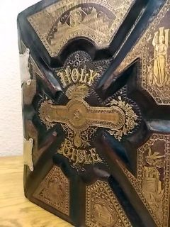 Family Bible King James Leather Leather King James 1892 Clasp