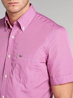Lacoste Short sleeved fine striped shirt Lilac