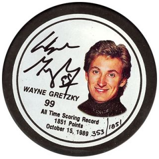 Signed Los Angeles Kings Hockey Puck PSA DNA Certified