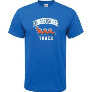 Kingsborough Community College Wave Royal Blue Track Arch T Shirt
