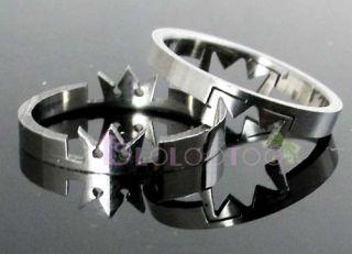 Kingdom Hearts Crown Stainless Steel Love Lover Rings M