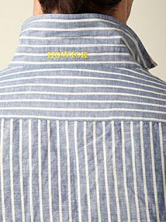 Howick Lombard butchers stripe shirt Navy