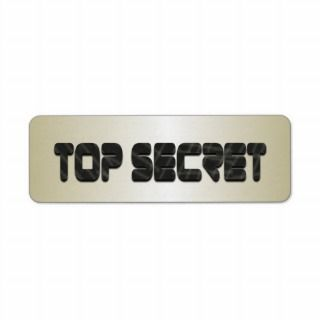 Top Secret in Metallic Gold Military Grunge Custom Return Address