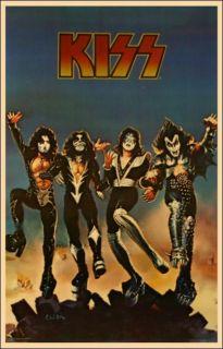 Kiss Original 1976 Destroyer Aucoin Concert Tour Poster