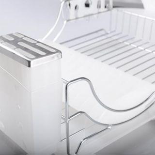 Sakura Compact Dish Utensil Kitchenware Drying Rack Drainer Chrome US