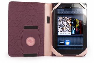 Embrace Leather case cover for Kindle Fire & Kindle Keyboard   Pink