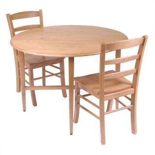 Winsome Basics Drop Leaf Kitchen Table Chair Set 34342
