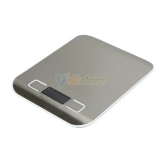 Mini 5kg 1g Digital LCD Electronic Kitchen Weight Scale White