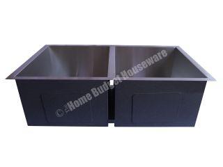 Steel Double Bowl Undermount Kitchen Sinks with Free Strainer