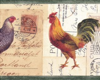 Roosters Country Kitchen $9 98 Wallpaper Wall Border