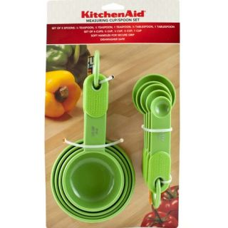 KITCHENAID Green Candy Apple MEASURING SPOONS & CUPS Set Teaspoon