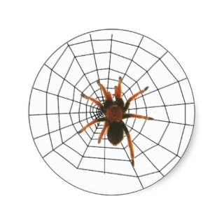 big scary spider sticker