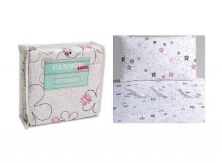 Cannon Mix Medley 3pc Twin Sheet Set Flat Sheet Fitted Sheet Pillow