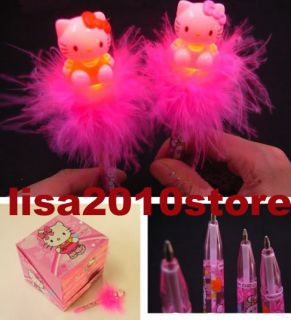 2X Mixed Cute Hello Kitty Light Up Ball Point Ballpoint Gift Pen