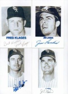 Chicago White Sox Autographed Postcard Lot 12