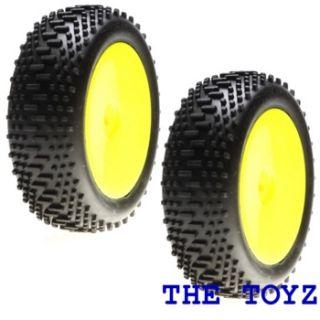 Losi Mini 8ight Buggy Front King Pin Wheel Tire Set LOSB1889