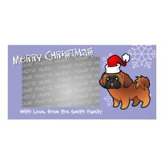 Christmas Shih Tzu (red puppy cut) photo cards by SugarVsSpice
