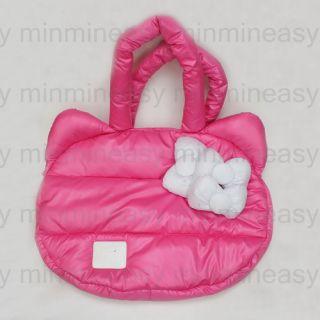 White Hello Kitty 3D Ribbon Space Cotton Tote Bag Messenger Shoulder