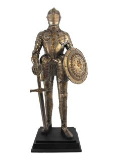 Scratch and Dent` Medieval Knight in Armor Statue Figure Armour