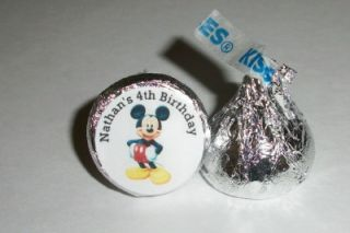 Mouse Clubhouse Birthday Party Favors Hershey Kiss Labels