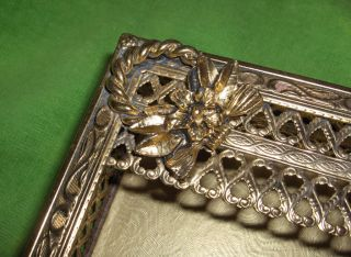 Stylebuilt Brass Filigree Ormolu Art Nouveau Kleenex Tissue Box Holder