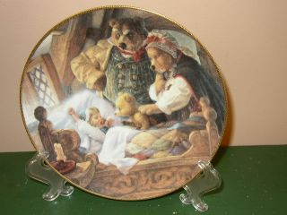 Knowles Collector Plate Goldilocks The Three Bears