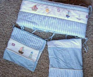 Lot 3 Koala Baby Crib Bumper Bed Skirt Valance Boats