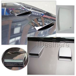 Black Car Roof Hood Air Flow Decorative Engine Vent Cover Sticker