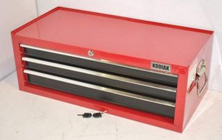 Kodiak 74103 26 3 Drawer Red Black Intermediate Tool Chest